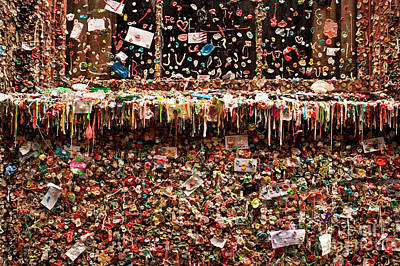 Gum Wall Pike Place Market Poster