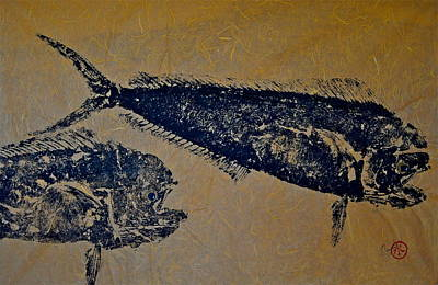 Gyotaku - Mahi Mahi - Dorado - Dolphinfish Poster