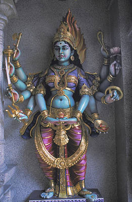 Hindu Goddess Khali Poster by Carl Purcell