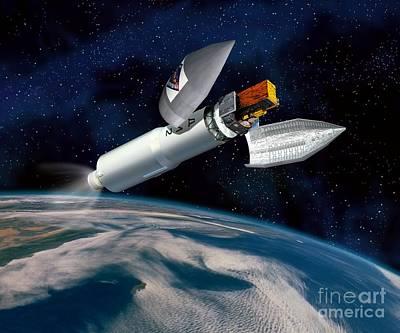Integral Satellite Launch, Artwork Poster