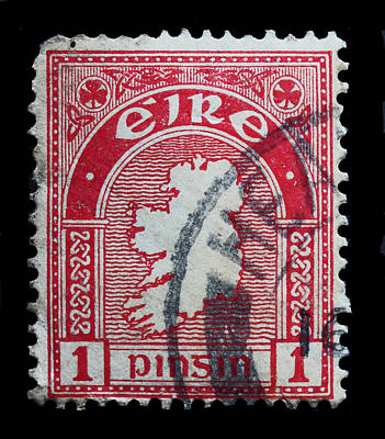 Irish Postage Stamp Poster by James Hill