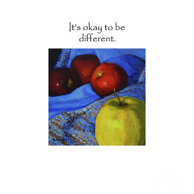 It's Okay To Be Different Title On Top Poster
