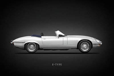Jaguar E-type Poster by Mark Rogan
