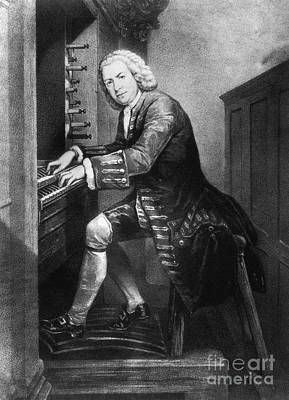 Johann Sebastian Bach, German Baroque Poster by Photo Researchers