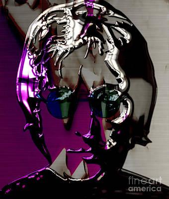 John Lennon Art Poster by Marvin Blaine