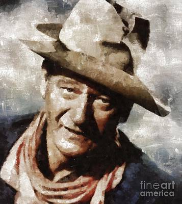 John Wayne Hollywood Actor Poster
