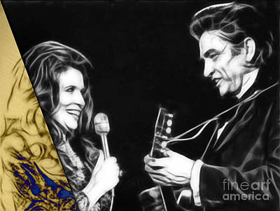 June Carter And Johnny Cash Collection Poster by Marvin Blaine