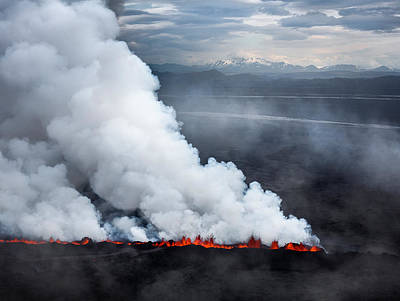 Lava And Plumes From The Holuhraun Poster by Panoramic Images