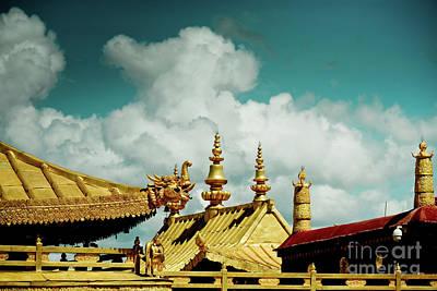 Lhasa Jokhang Temple Fragment Tibet Artmif.lv Poster
