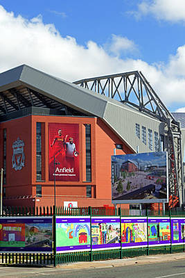 Liverpool Uk, 17th September 2016. Liverpool Football Club's New 114 Million Stand Nearing Completion Poster by Ken Biggs