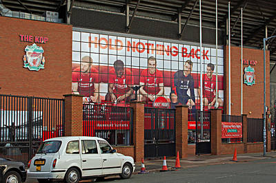 Liverpool Uk January 8th 2016. The Kop Entrance To Liverpool Foo Poster by Ken Biggs