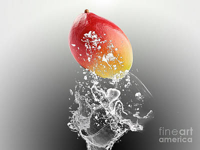 Mango Splash Poster