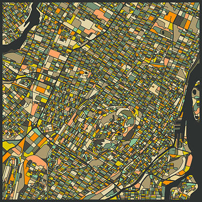 Montreal Map Poster