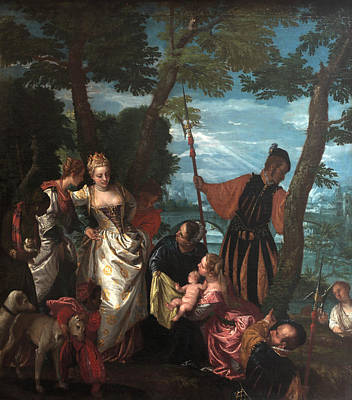 Moses Saved From The Waters Poster by Paolo Veronese