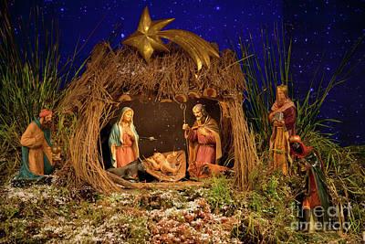 Nativity Scene Poster by Gaspar Avila