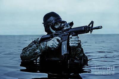 Navy Seal Frogman Poster