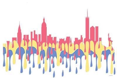 New York Ny Skyline Poster