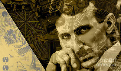 Nikola Tesla Collection Poster by Marvin Blaine