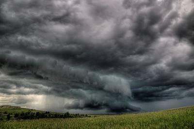 North Dakota Thunderstorm Poster