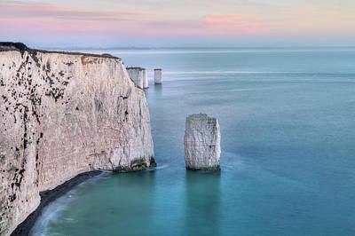 Old Harry Rocks - England Poster by Joana Kruse