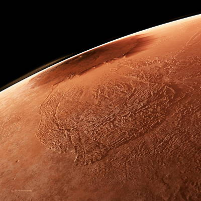 Olympus Mons, Mars Poster