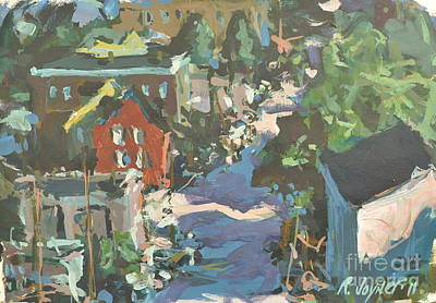 Poster featuring the painting Original Contemporary Urban Painting Featuring Richmond Virginia by Robert Joyner