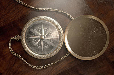 Ornate Pocket Compass Poster by Allan Swart
