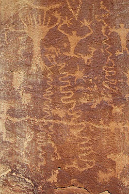 Poster featuring the photograph Petroglyph - Fremont Indian by Breck Bartholomew
