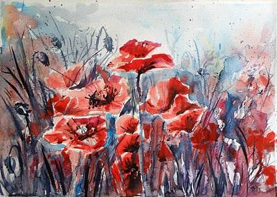 Poppies Poster by Kovacs Anna Brigitta