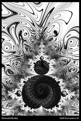 Primordial Duality  Poster by Fred Andrews IV