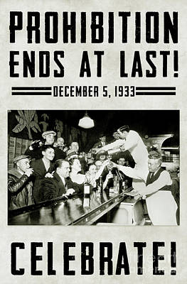 Prohibition Ends Celebrate Poster by Jon Neidert
