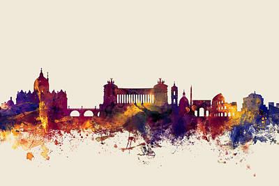 Rome Italy Skyline Poster