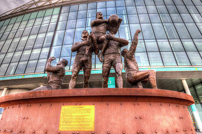 Rugby League Legends Statue Wembley Stadium Poster
