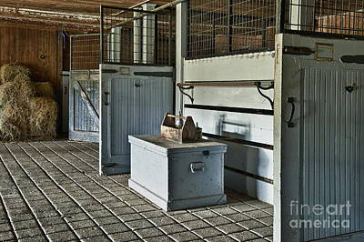Rustic Stable Poster by John Greim