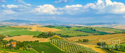 Scenic Tuscany Landscape At Sunset, Val D'orcia, Italy Poster