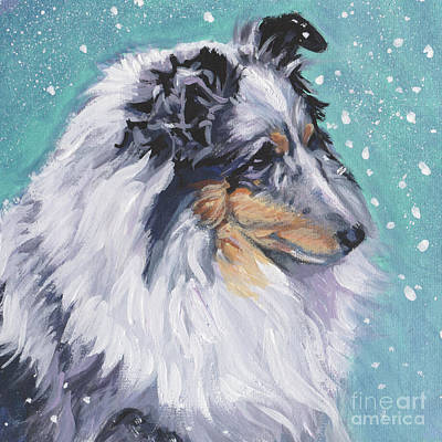 Poster featuring the painting Shetland Sheepdog by Lee Ann Shepard