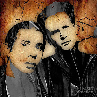 Simon And Garfunkel Collection Poster by Marvin Blaine