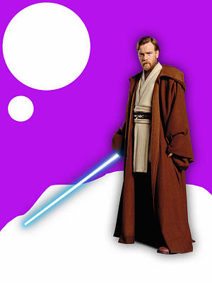 Star Wars Obi Wan Kenobi Collection Poster by Marvin Blaine