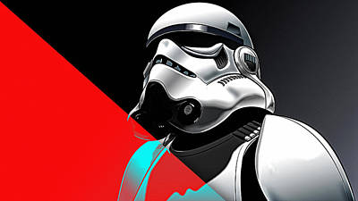Star Wars Stormtrooper Collection Poster by Marvin Blaine