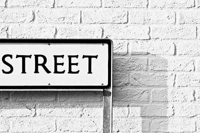 Street Sign Poster by Tom Gowanlock