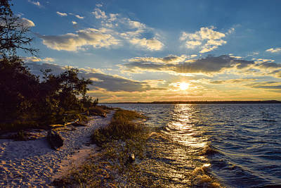 Poster featuring the photograph Sunset On The Cape Fear River by Willard Killough III