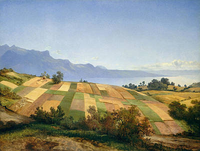 Swiss Landscape Poster by Alexandre Calame
