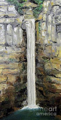Taughannock Falls Poster by Claudia Croneberger