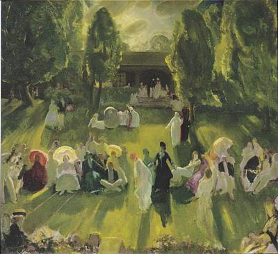 Tennis At Newport Poster by George Bellows