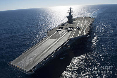 The Aircraft Carrier Poster by Celestial Images