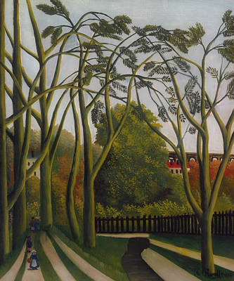 Poster featuring the painting The Banks Of The Bievre Near Bicetre by Henri Rousseau