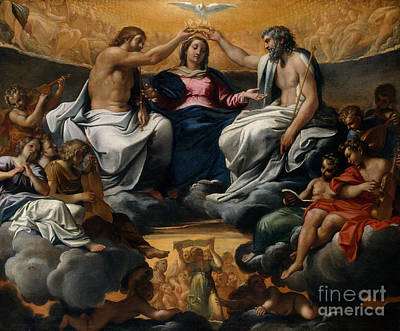 The Coronation Of The Virgin Poster by Annibale Carracci