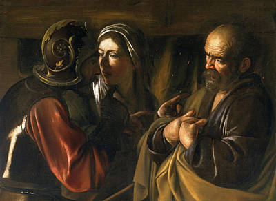 The Denial Of Saint Peter Poster by Caravaggio