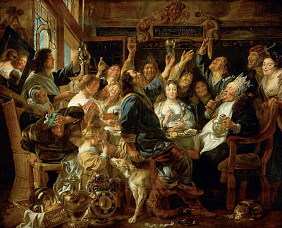 The Feast Of The Bean King Poster by Jacob Jordaens
