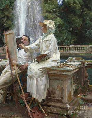 The Fountain, Villa Torlonia, Frascati, Italy Poster by John Singer Sargent